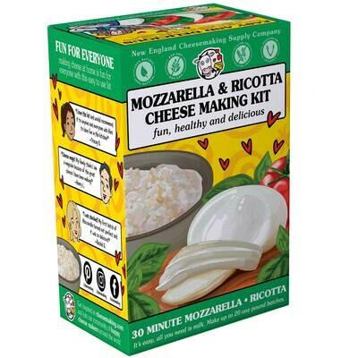30 Minute Mozzarella & Ricotta Cheese Kit