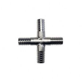 4 way 1/4 Cross Piece Stainless Steel