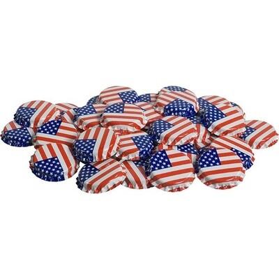 Bottle Caps- American Flag- 144 ct.