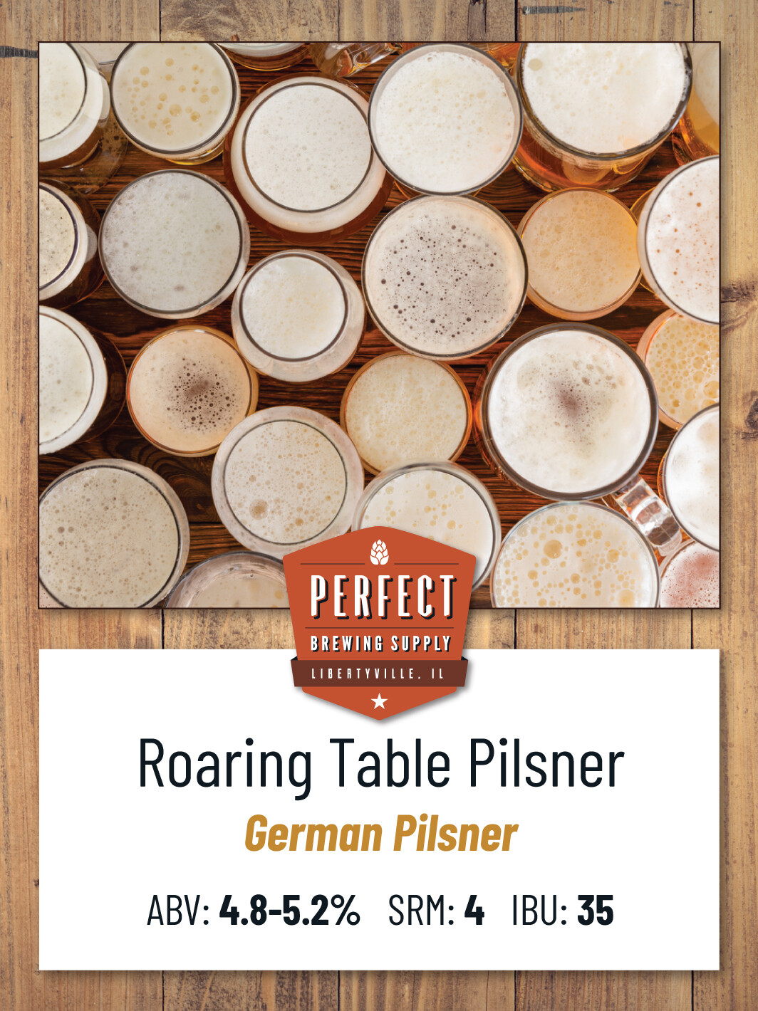 Roaring Table Pilsner- Extract Kit