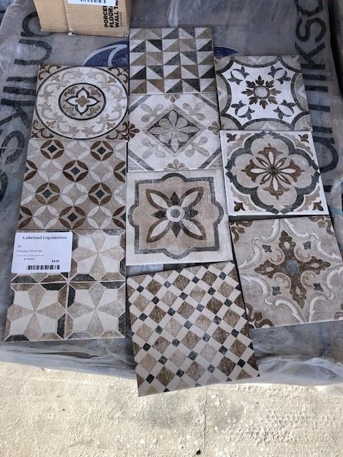 Brown decorative tile 7.9x7.9