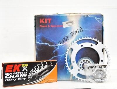 Kit per tramissione catena corona pignone per moto Yamaha 125 XY-X