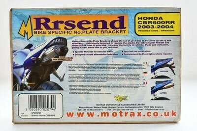Porta targa marca Motrax  per Honda CBR 600 RR - 2003  - 2004