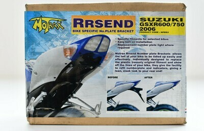 porta targa Motrax Rrsend Suzuki gsxr 600-750 codice  npbs3