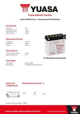 BATTERIA YUASA 12N12A-4A-1
