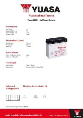 BATTERIA YUASA 51814