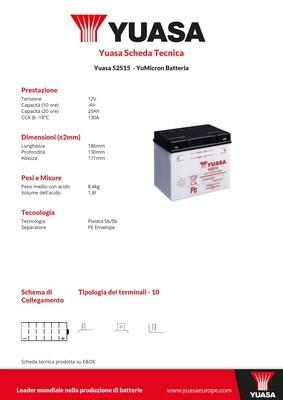 BATTERIA YUASA 52515