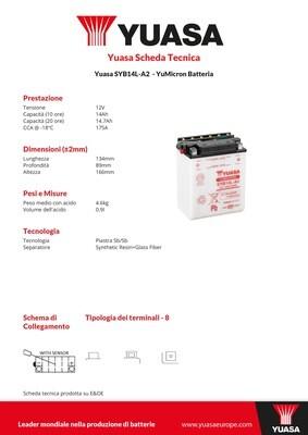 BATTERIA YUASA SYB14L-A2