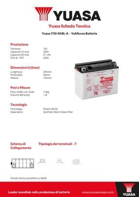 BATTERIA YUASA Y50-N18L-A
