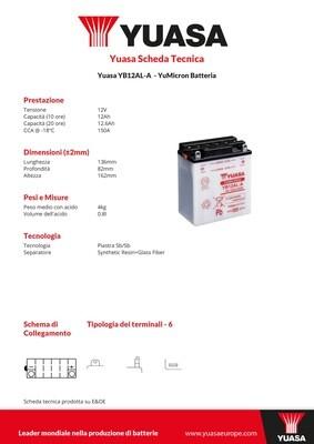BATTERIA YUASA YB12AL-A