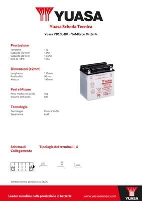 BATTERIA YUASA YB10L-BPPOTENZIATA