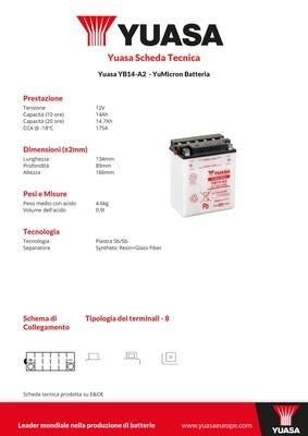 BATTERIA YUASA YB14-A2