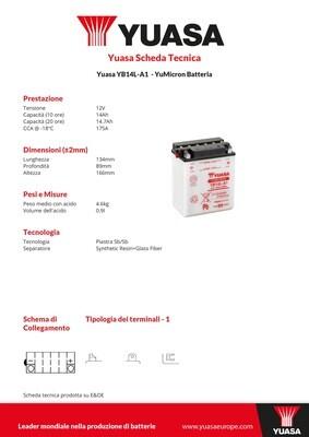 BATTERIA YUASA YB14L-A1