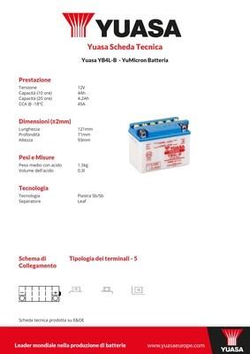 BATTERIA YUASA YB4L-B