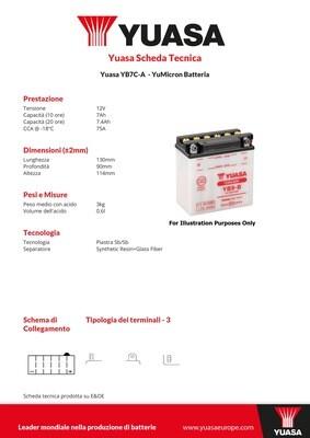 BATTERIA YUASA YB7C-A
