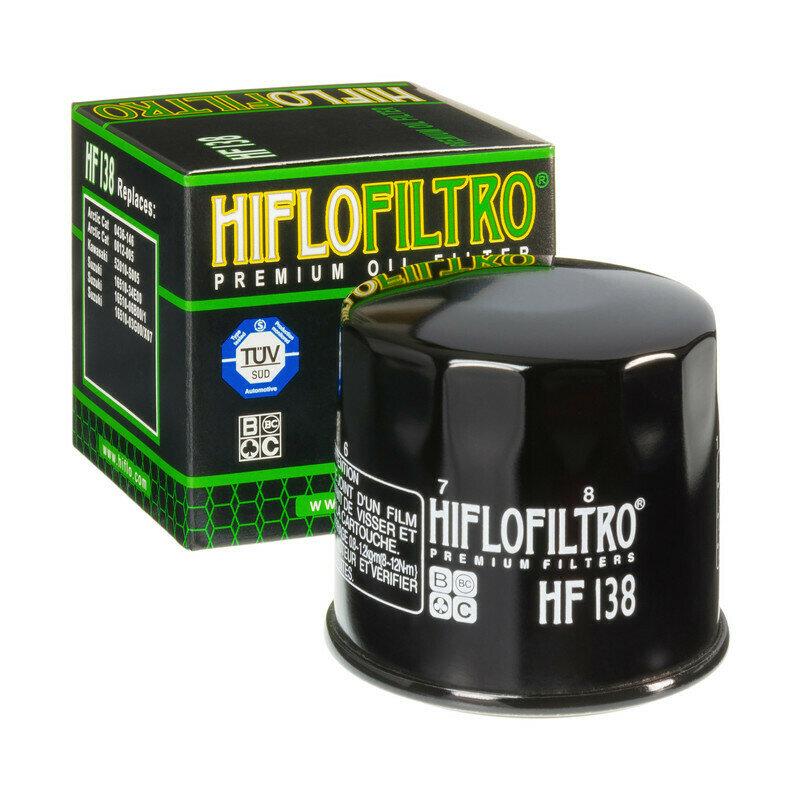 HF138FILTRO OLIO  per moto  SUZUKI GSX-R 600DL V-STROM 1000 CAGIVA RAPTORFILTRO HILFO