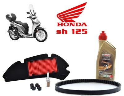 Kit Tagliando scooter Honda Sh 125 05-012 Filtro aria rulli olio candela cinghia