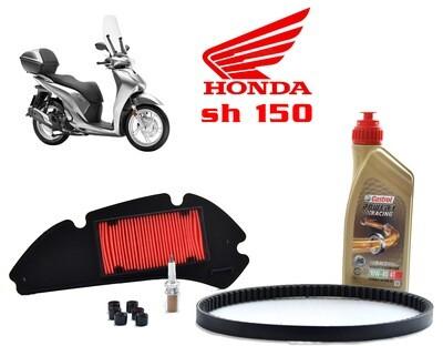 Kit Tagliando scooter Honda Sh 150 01-012 Filtro aria rulli olio candela cinghia