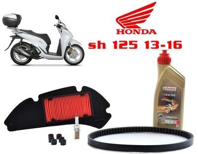 Kit Tagliando scooter Honda SH 125 13-16 Filtro aria rulli olio candela cinghia