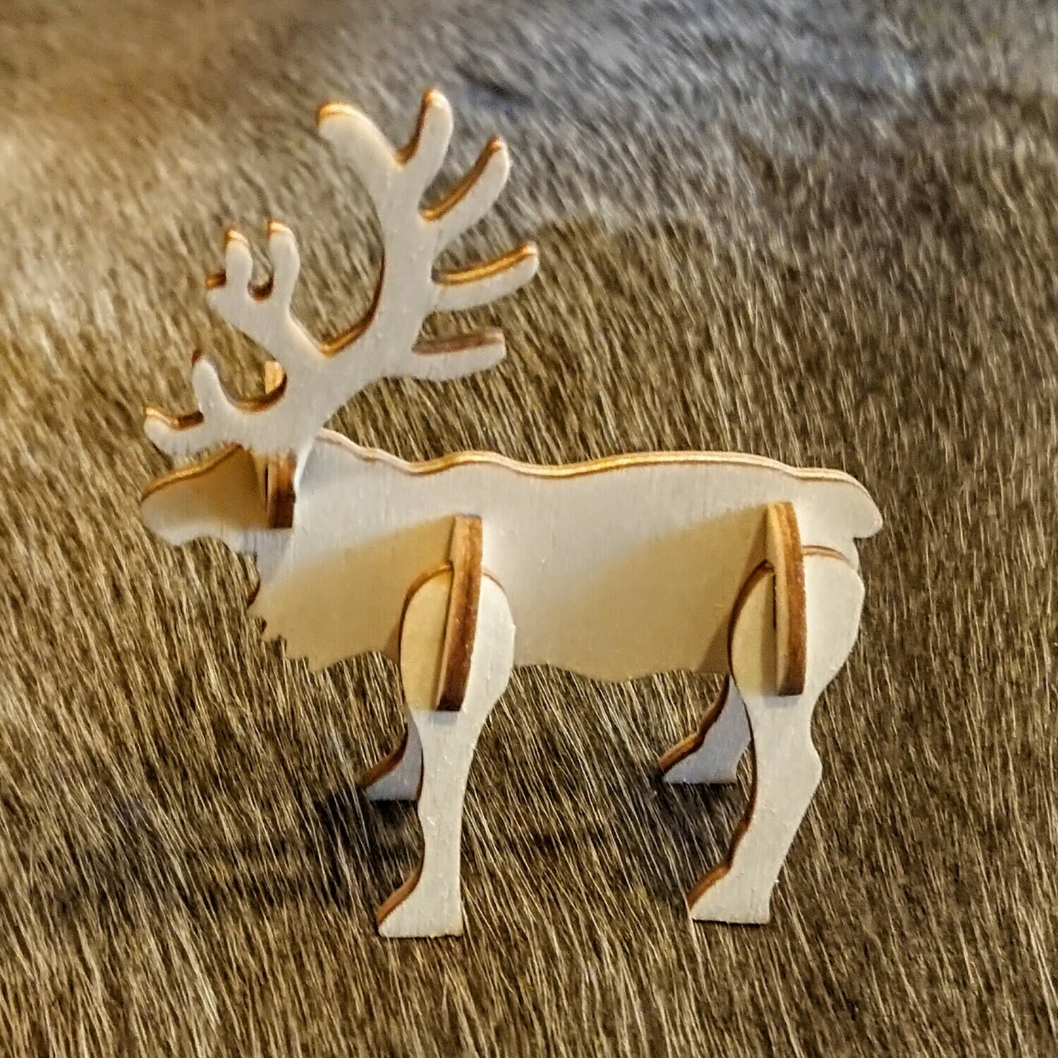 Pop Up Wooden Reindeer