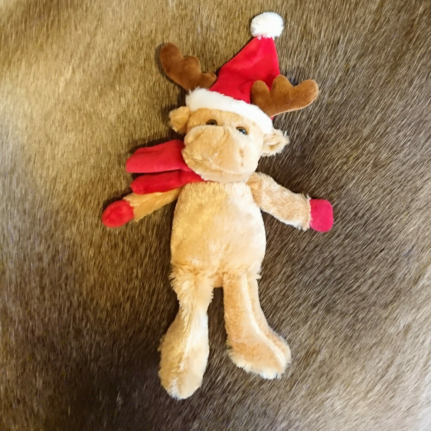 Small Reindeer Teddy with Hat