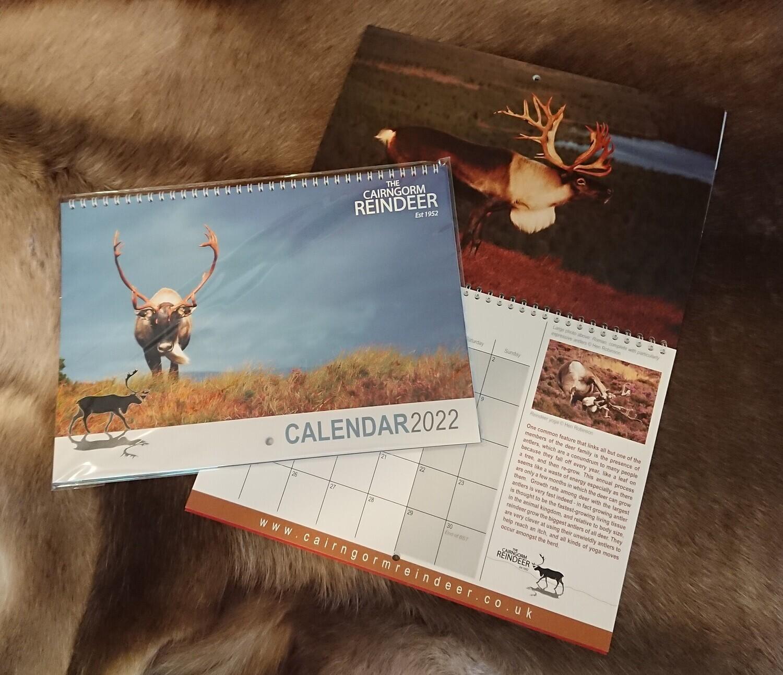 2022 Reindeer Calendar