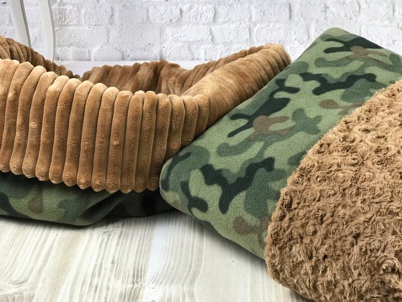 BINNEN-BÜDDEL // Fleece Camouflage mit Toffée // auf Lager