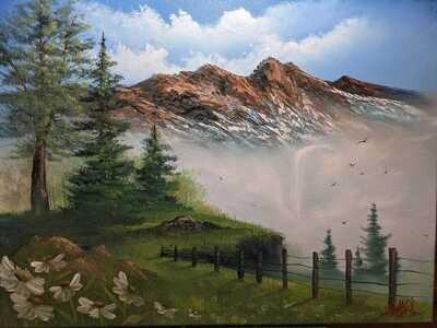 Original Brandon Thomas Oil Painting ( Dasiy View) ships free usa