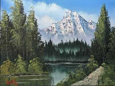 Original Brandon Thomas Oil Painting ( Mountain Hideaway) SHIPS FREE USA