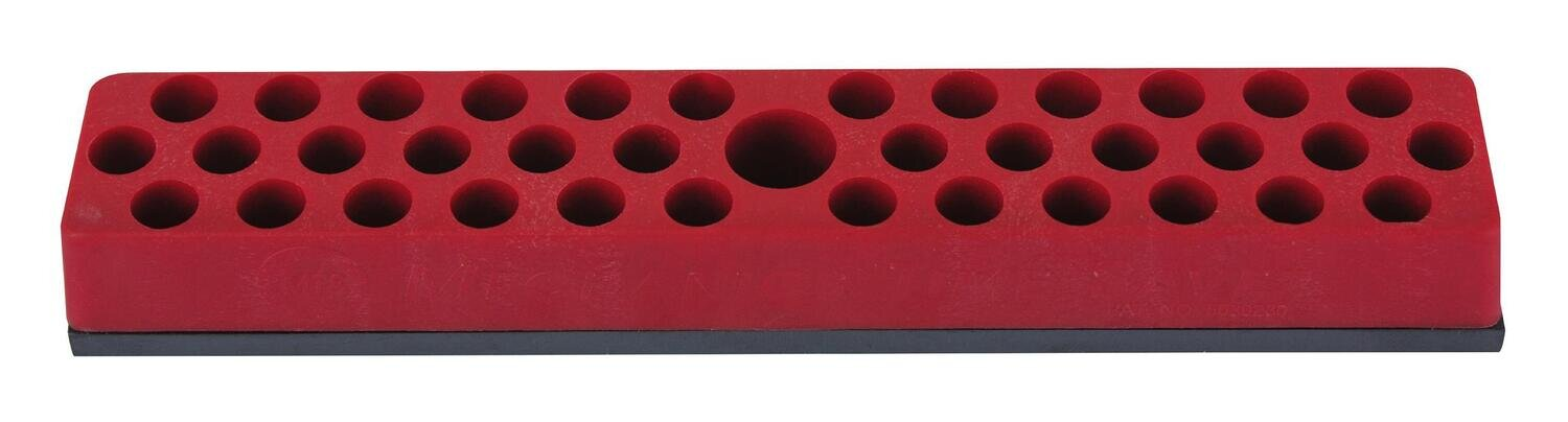 """MS581 - 1/4"""" Drive Magnetic Hex Bit Holder, Red"""