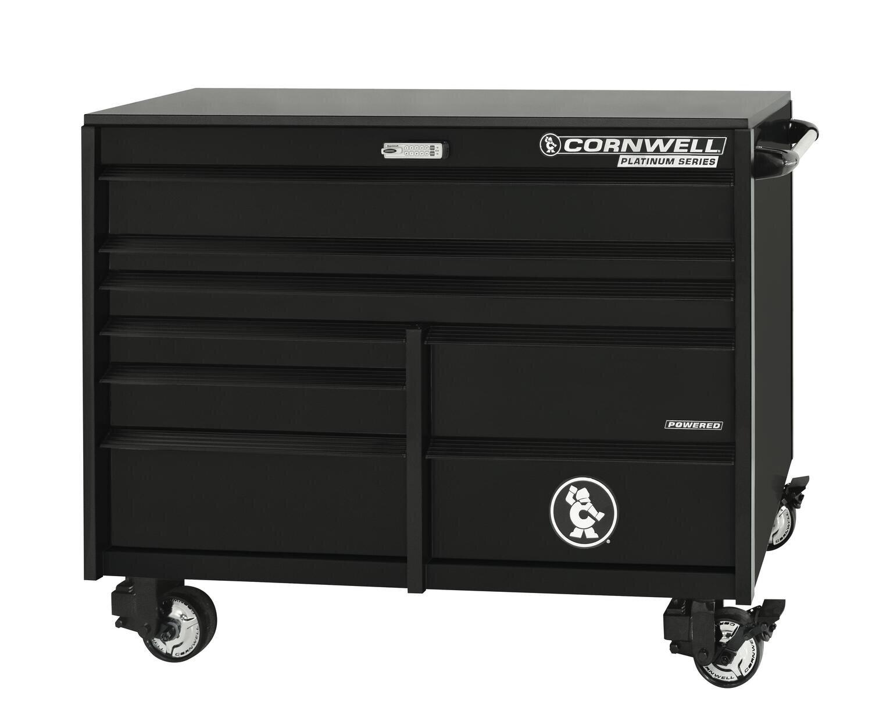 """CTSPLR568KMK - PLATINUM™ 56"""" 8-Drawer Double Bank Cabinet, Matte Black"""