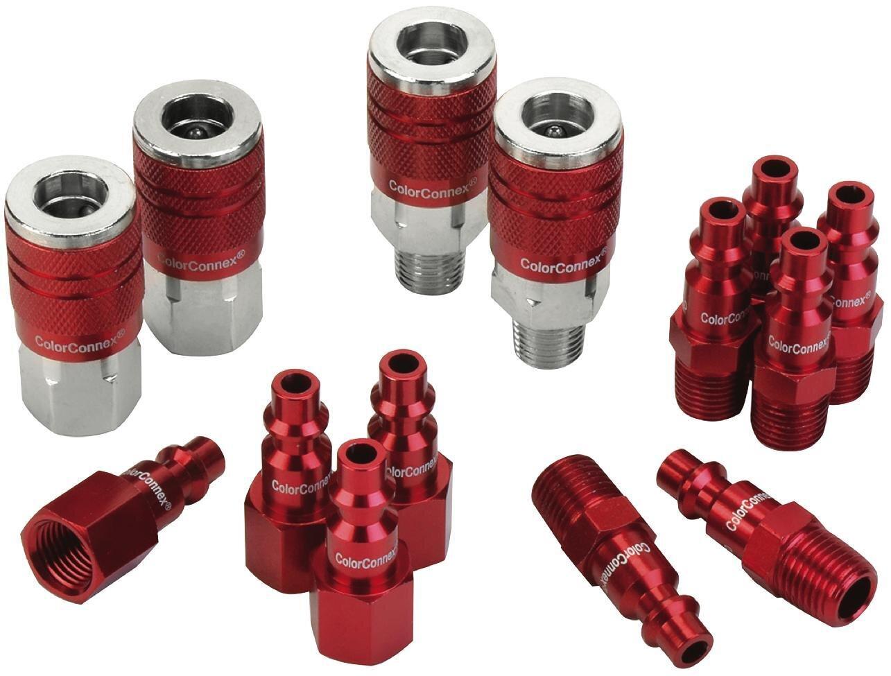 """LMA73458D - 14 Piece ColorConnex® Coupler & Plug Set, 1/4"""" NPT Industrial"""