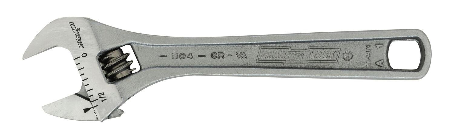 """CL804 - 4.5"""" Chrome Adjustable Wrench"""