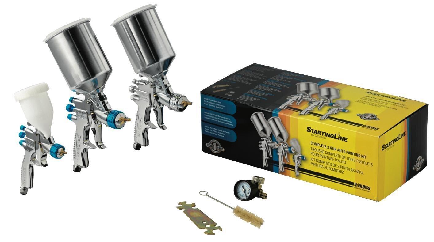 DEV802789 - 3 Gun StartingLine® Gravity Feed Spray Gun Kit