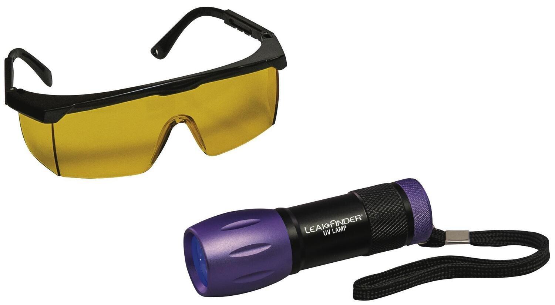 WGTPUVC - Compact UV LED Flashlight and Glasses Kit