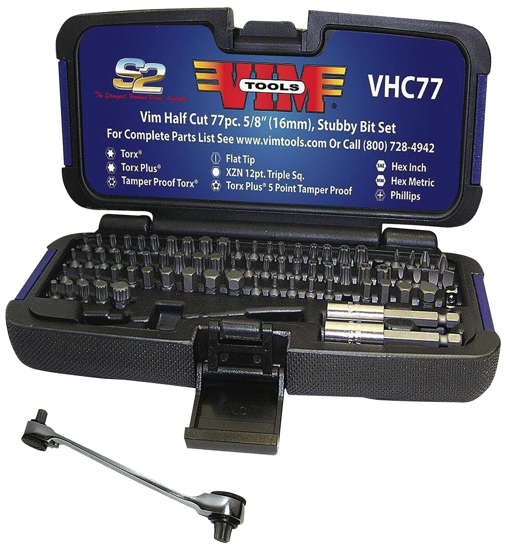 VMVHC77 - 77 Piece VIM Half Cut Bit Set