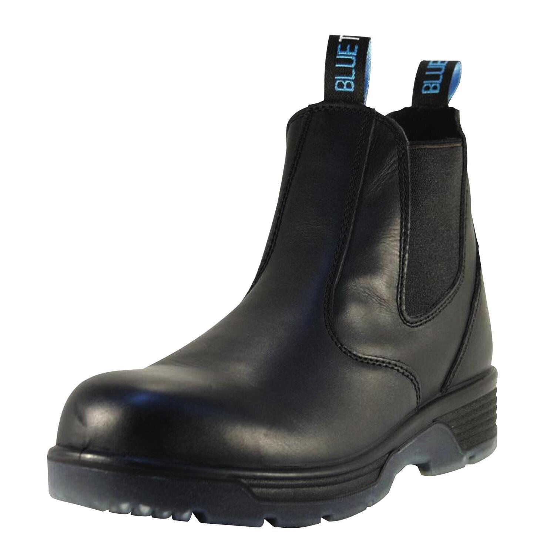 RBBBTST8.5 - Blue Tongue® Station Black Slip-On Soft Toe Boots