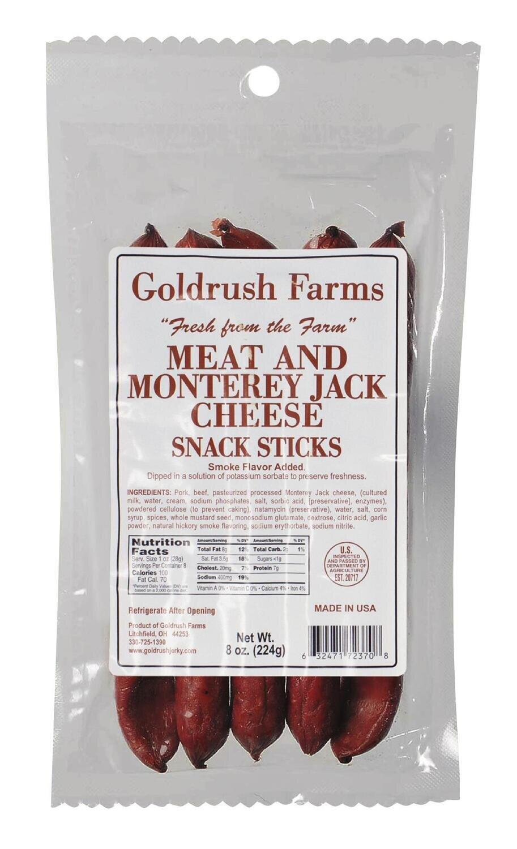 GRJ72370 - 8 oz. Monterey Jack Meat Sticks (12 Pack)