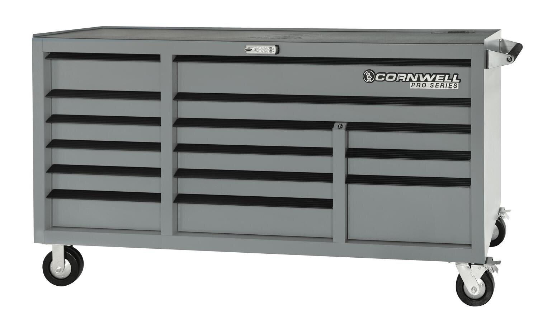 "CTSPSR7615KMS - PRO SERIES® 76"" 15 Drawer Triple Bank Cabinet"