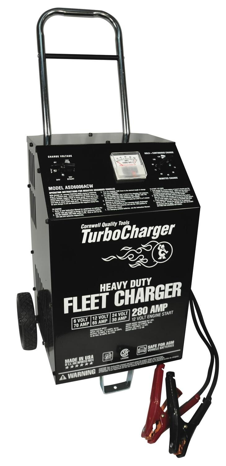 ASD6006ACW - 6/12/24V Heavy-Duty Charger with 280A Crank Assist