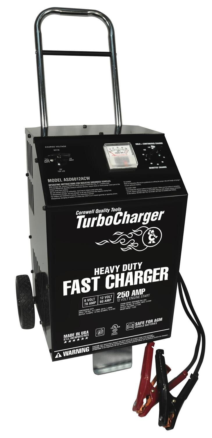 ASD6012ACW - 6/12V Heavy-Duty Charger with 250A Crank Assist