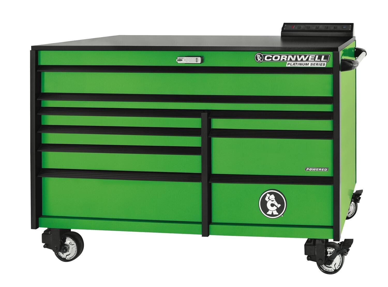 "CTSPLR679KG - PLATINUM™ 67"" 9-Drawer Double Bank Cabinet, Neon Green"