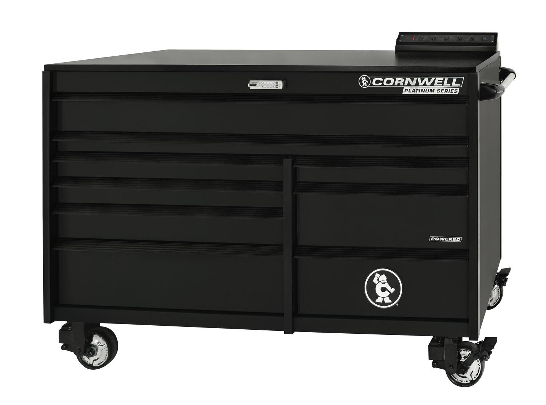 """CTSPLR679KMK - PLATINUM™ 67"""" 9-Drawer Double Bank Cabinet, Matte Black"""