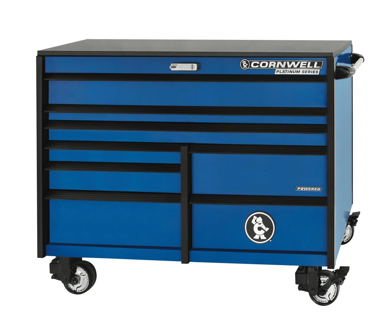 "CTSPLR568KB - PLATINUM™ 56"" 8-Drawer Double Bank Cabinet, Corporate Blue"