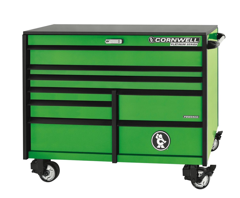 "CTSPLR568KG - PLATINUM™ 56"" 8-Drawer Double Bank Cabinet, Neon Green"