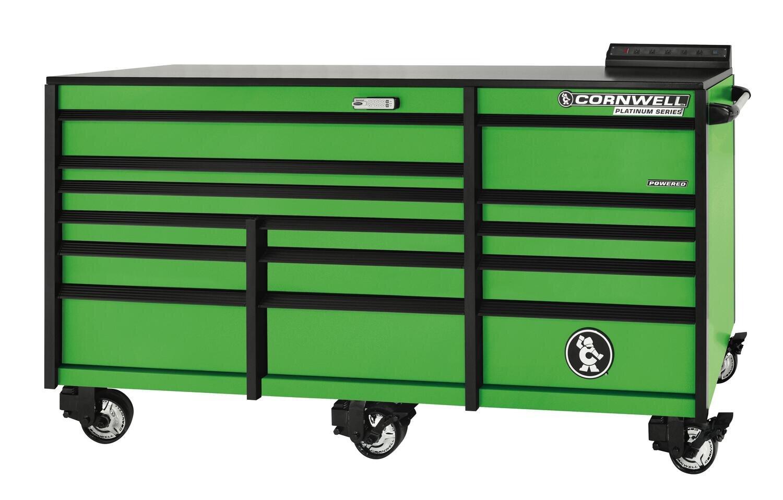 "CTSPLR8414KG - PLATINUM™ 84"" 14-Drawer Triple Bank Cabinet, Neon Green"