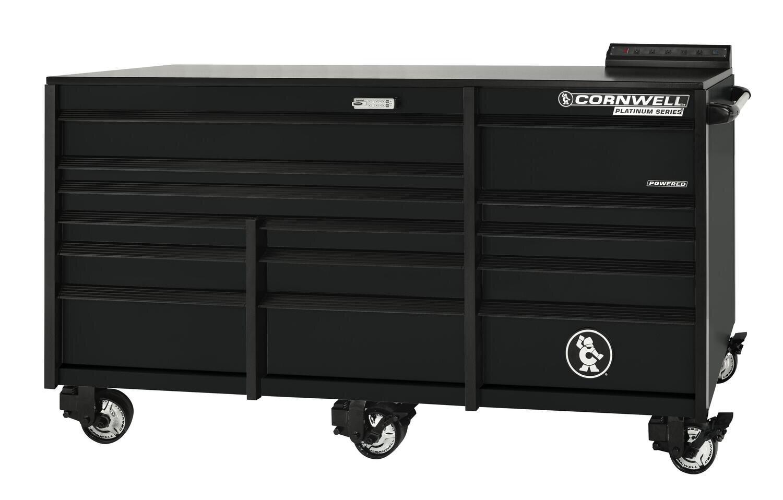 """CTSPLR8414KMK - PLATINUM™ 84"""" 14-Drawer Triple Bank Cabinet, Matte Black"""
