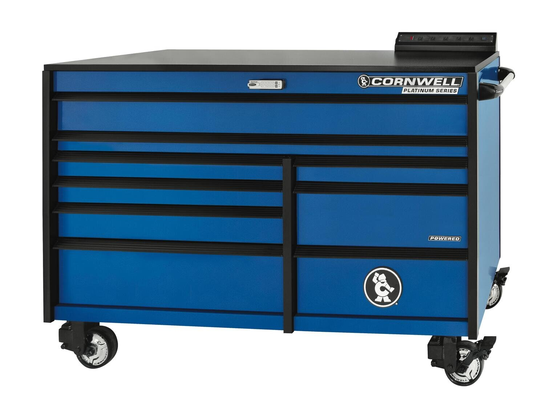"CTSPLR679KB - PLATINUM™ 67"" 9-Drawer Double Bank Cabinet, Corporate Blue"