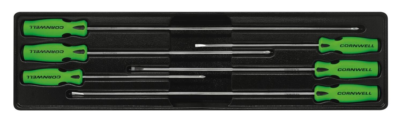 CSD86CSG - 6 Piece Cabinet Screwdriver Set, Green
