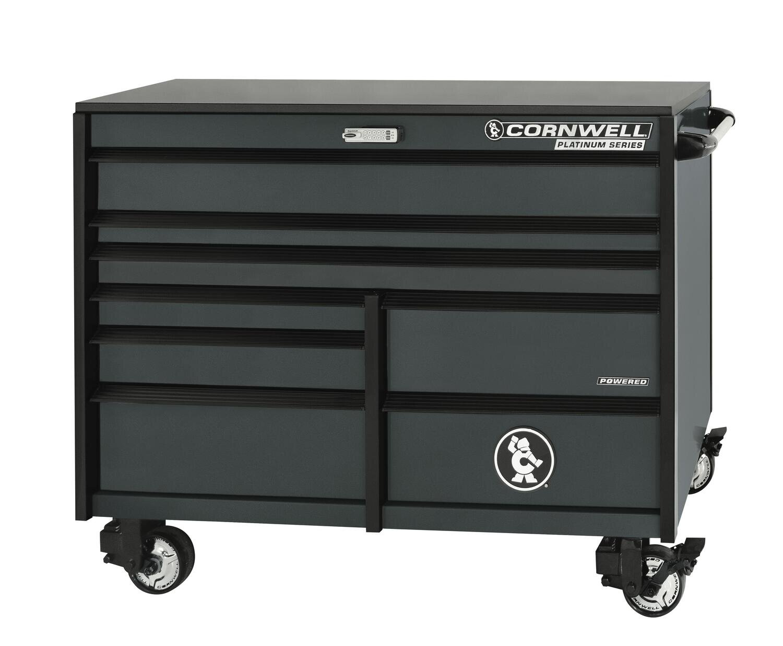 "CTSPLR568KF - PLATINUM™ 56"" 8-Drawer Double Bank Cabinet, Graphite"